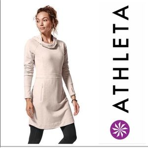 Athleta Medium Power Down Sweatshirt Dress M